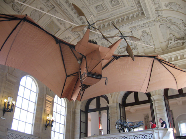 Avion III - steampunk bat plane in the Musée des Arts et Metiers