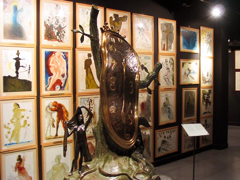 Obra The Persistence of Memory no Espaço Dalí