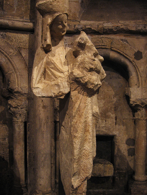 Statue of the virgin in the Abbey of Saint-Germain-des-Prés